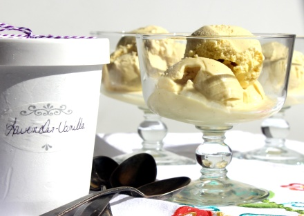 Lavender-Vanilla Ice Cream